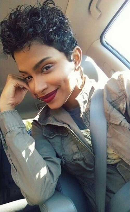Naturally Curly Pixie Cut 2016
