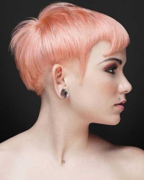 Nice Pink Short Pixie Haircuts
