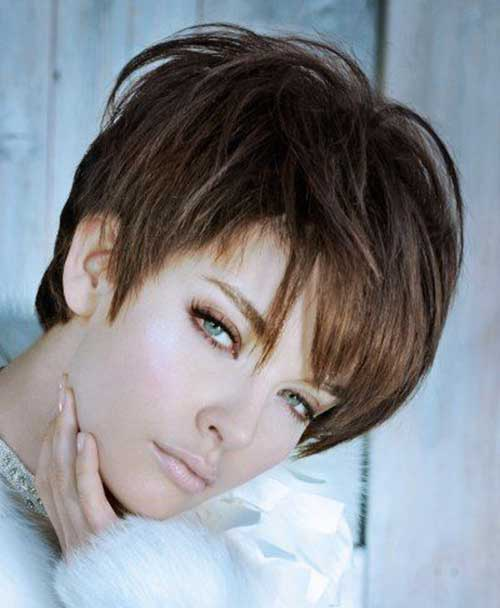 Textured Pixie Cut with Bangs