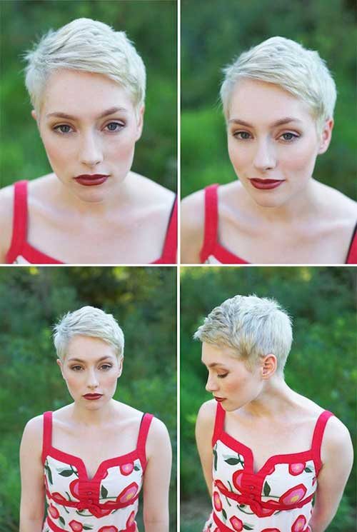 Pixie Blonde Dyed Hair