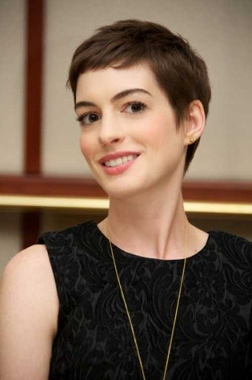 Short Pixie Haircut Anne Hathaway