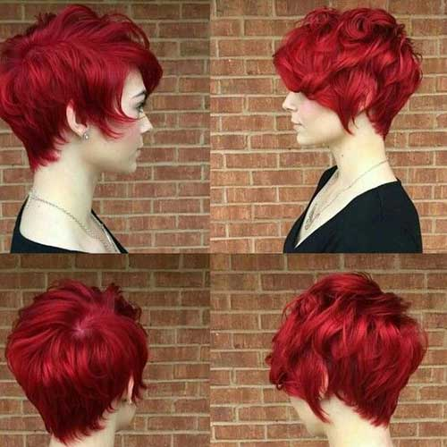Trendy Pixie Red Hair