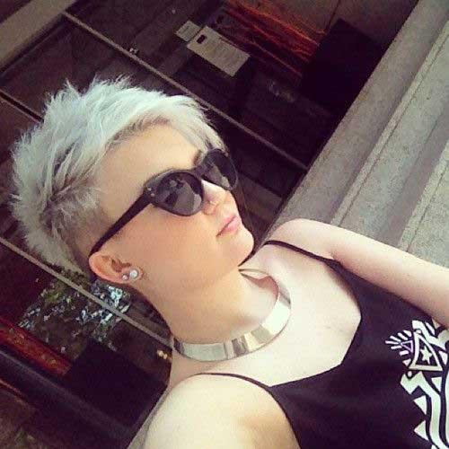 Platinum Blonde Pixie Color Ideas