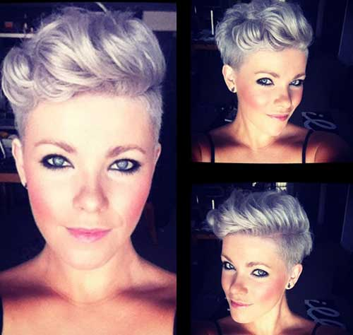 Purple Hair Pixie Styles