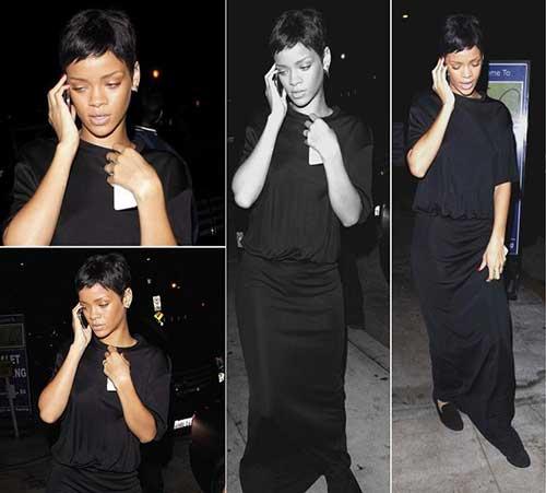 Rihanna Black Pixie Hairstyles