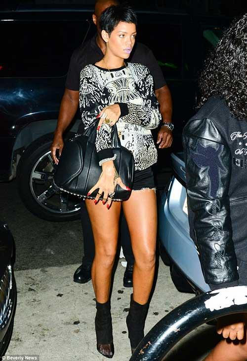 Rihanna Cool Pixie Hair