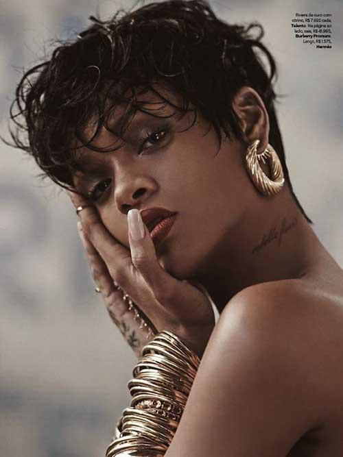 Rihanna Long Messy Pixie Hair