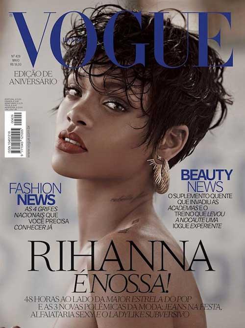 Rihanna Messy Pixie Hair