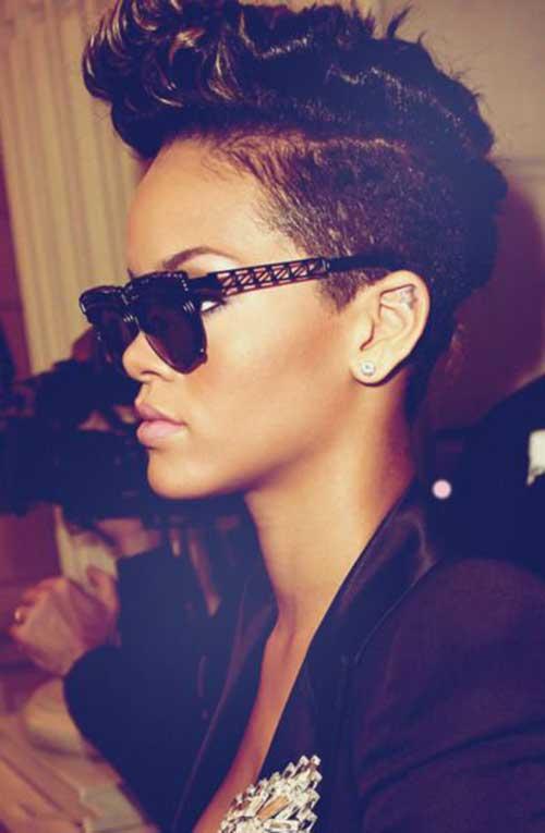 Rihanna Mohawk Pixie Hair