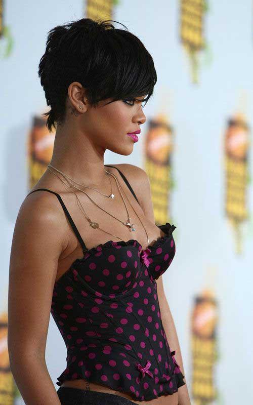 Rihanna Pixie Haircut Pics