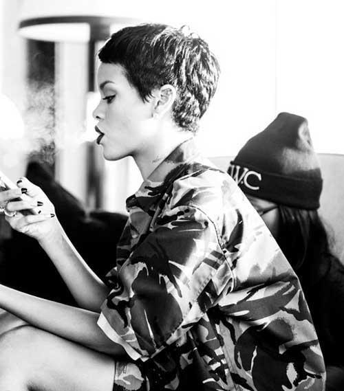 Rihanna Pixie Cuts 2015