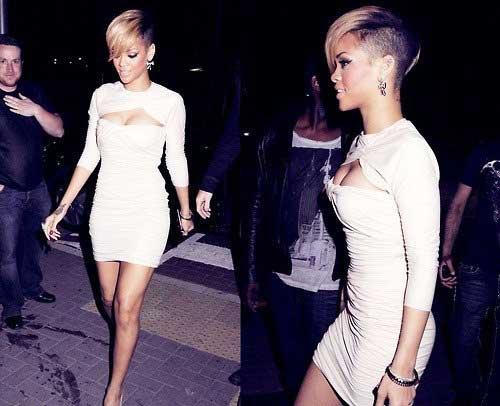 Rihanna Short Side Pixie Hair