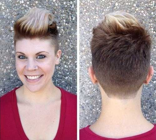 Coolest Shaved Pixie Hairstyles