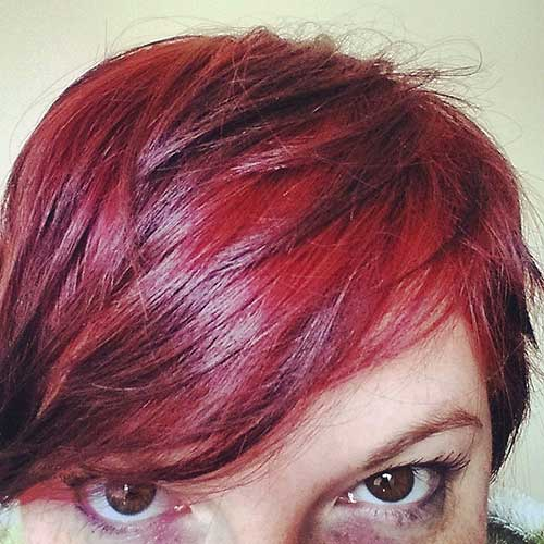 Shinny Red Pixie