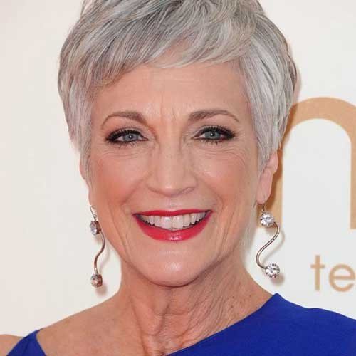 Short Grey Pixie Hairstyles for Older Women