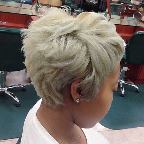 Short Blonde Pixie for Thick Hair