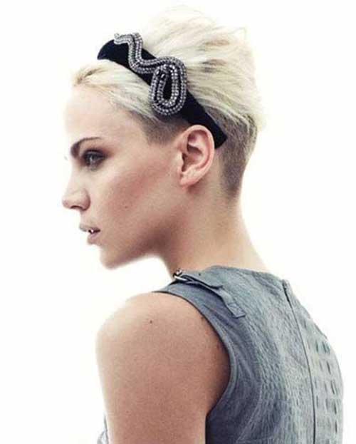 Short Shaved Undercut Pixie Hairstyles