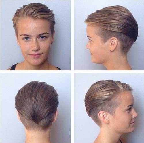 Stylish Ash Blonde Pixie Hair Cuts