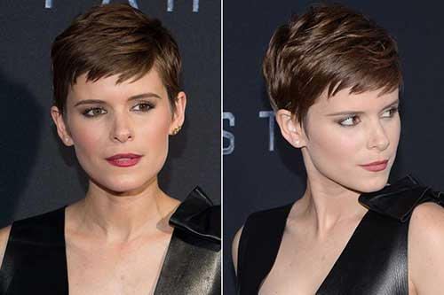 Stylish Dark Brown Pixie Cuts