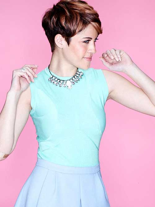 Stylish Pixie Cut Side View