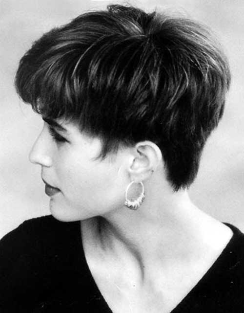 Traditionally Pixie Hair Cuts Back View Look