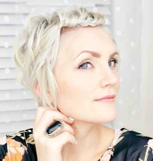 Twisted Platinum Blonde Pixie Styles