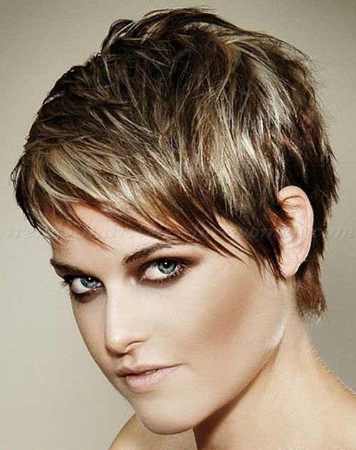 Стрижка на короткие волосы покраска