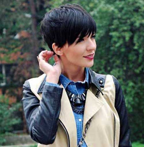 Pixie Cut Dark Hair-7