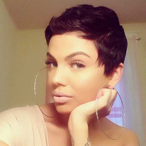 Pixie Cut Dark Hair-9