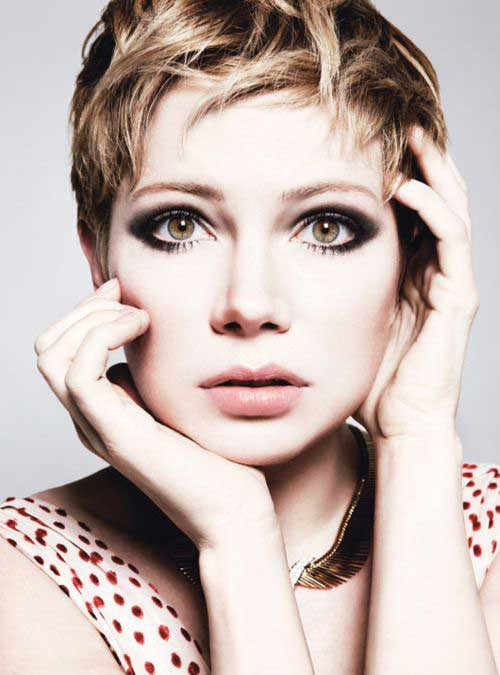 Pixie Cut Michelle Williams-9