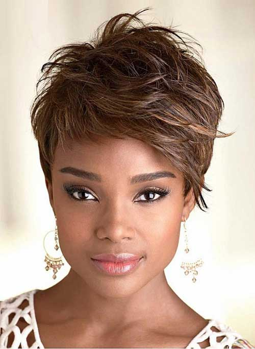 Short Pixie Hairstyle For Women Over 50 furthermore Short Layered