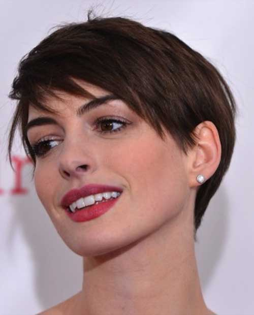 Anne Hathaway Short Pixie Hairstyles