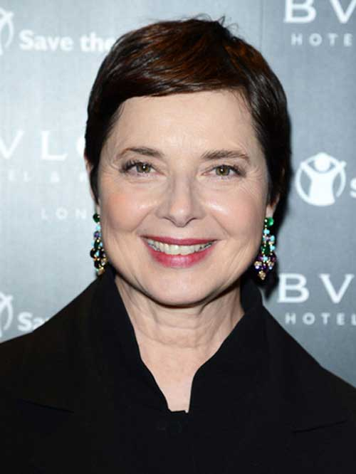 Isabella Rossellini's Short Pixie Styles