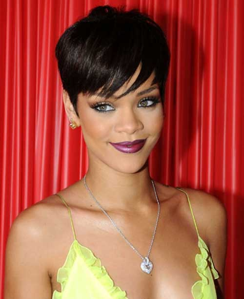 Rihanna Pixie Hair Cut