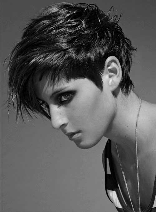 Dark Short Sassy Haircuts