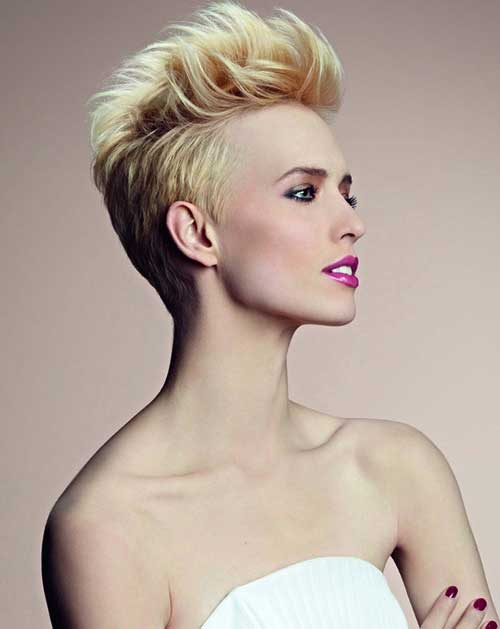 Hairstyles for Blonde Short Hair 2014