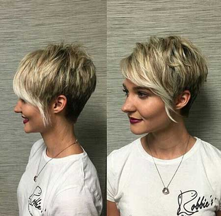 Blonde Pixie with Bangs