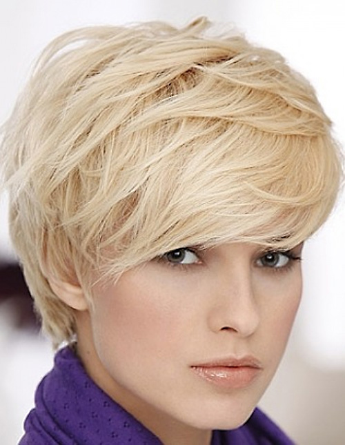 Blonde Layered Pixie Haircut
