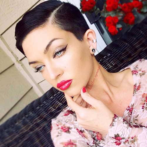 Short Dark Pixie Hairstyles-11