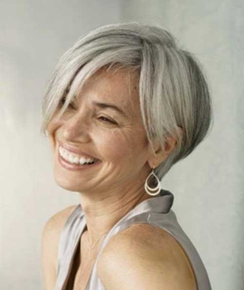 Short Pixie Haircuts for Gray Hair-8