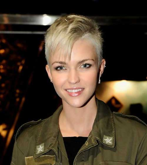 Pixie Cuts with Shaved Sides
