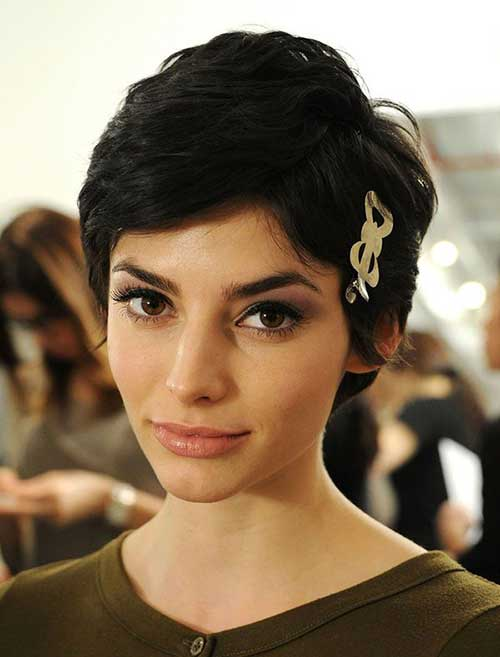 Short Dark Pixie Hairstyles