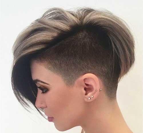 Half Shaved Pixie Cut-22