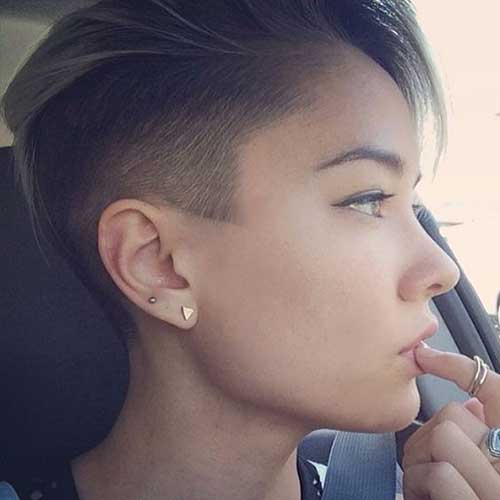 Half Shaved Pixie Cut-27