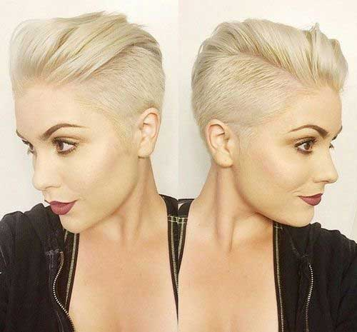 Half Shaved Pixie Cut-36
