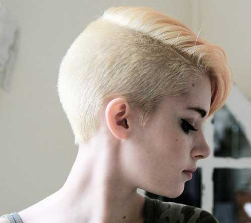 Half Shaved Pixie Cut-38