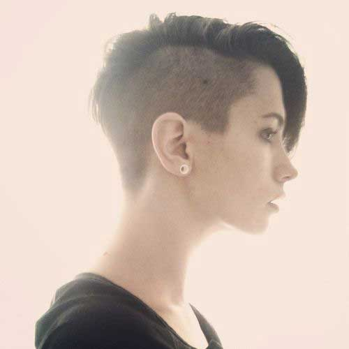 Half Shaved Pixie Cut-6