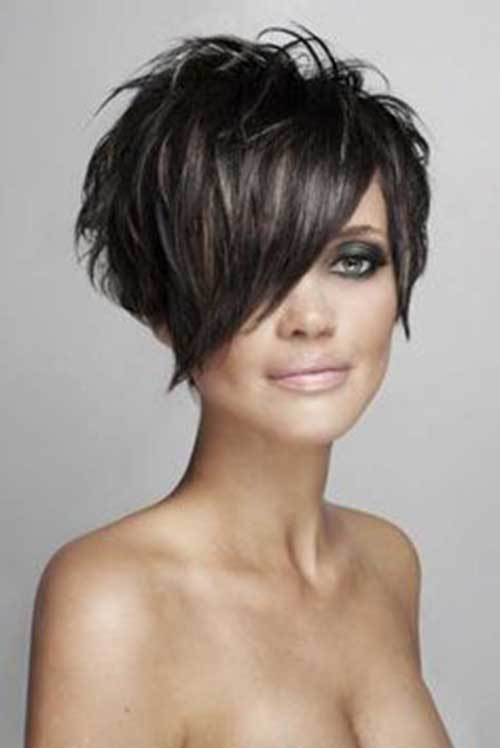 Long Pixie Hairstyles with Bangs-6