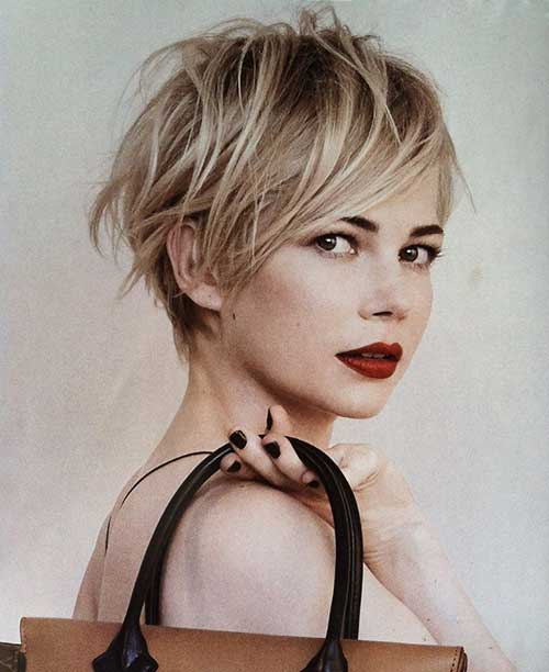 Pixie Haircut for Round Faces-8