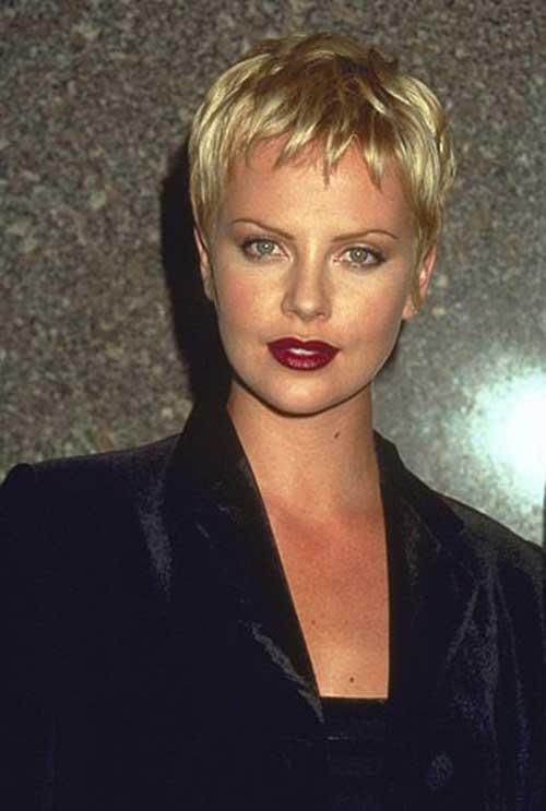 Charlize Theron Pixie Haircuts